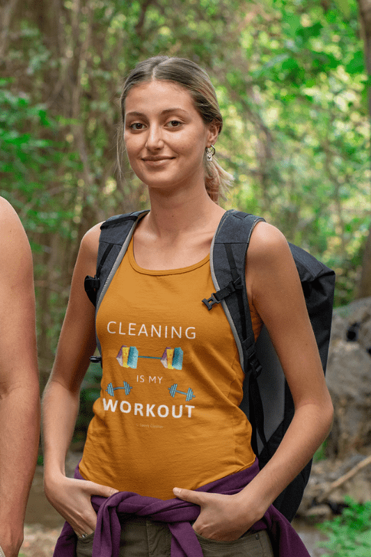 Cleaning is My Workout, Savvy Cleaner Funny Cleaning Shirts, Classic Tank Top