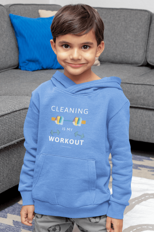 Cleaning is My Workout, Savvy Cleaner Funny Cleaning Shirts, Kids Classic Pullover Hoodie
