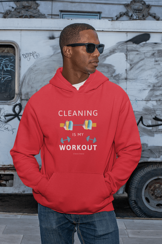 Cleaning is My Workout, Savvy Cleaner Funny Cleaning Shirts, Premium Pullover Hoodie