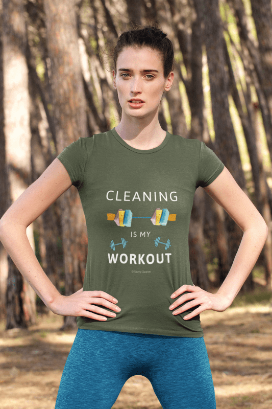 Cleaning is My Workout, Savvy Cleaner Funny Cleaning Shirts, Women's Triblend T-Shirt