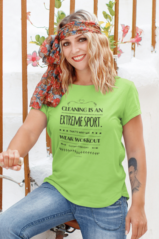 Cleaning is an Extreme Sport Savvy Cleaner Funny Cleaning Shirts Comfort Tee