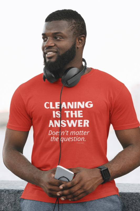 Cleaning is the Answer Savvy Cleaner Funny Cleaning Shirts Men's Standard Tee
