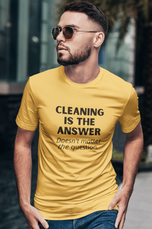 Cleaning is the Answer Savvy Cleaner Funny Cleaning Shirts Premium Tee