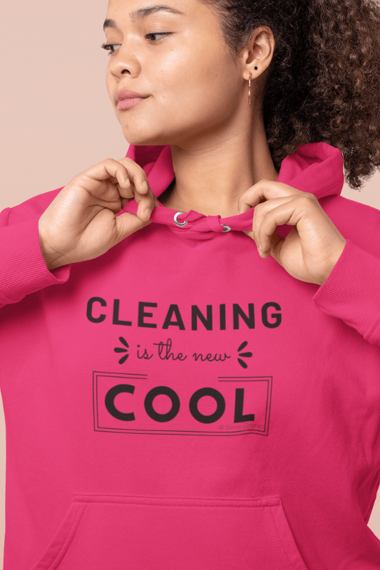 Cleaning is the New Cool, Savvy Cleaner Funny Cleaning Shirts, Classic Pullover Hoodie