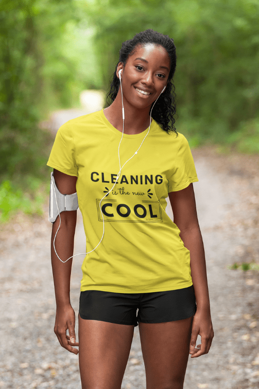 Cleaning is the New Cool, Savvy Cleaner Funny Cleaning Shirts, Women's Boyfriend T-Shirt