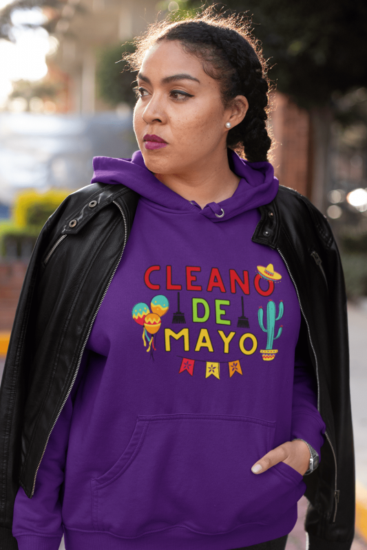 Cleano De Mayo Savvy Cleaner Funny Cleaning Shirts Classic Pullover Hoodie