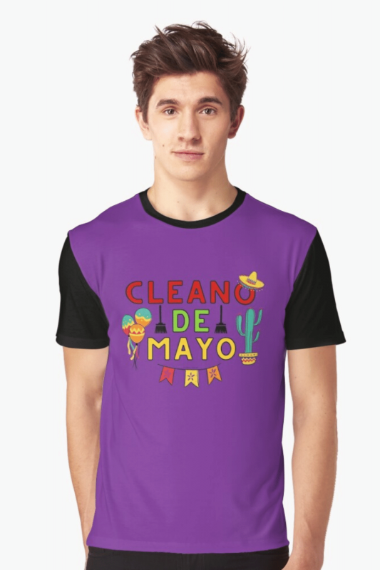 Cleano De Mayo Savvy Cleaner Funny Cleaning Shirts Graphic T-Shirt