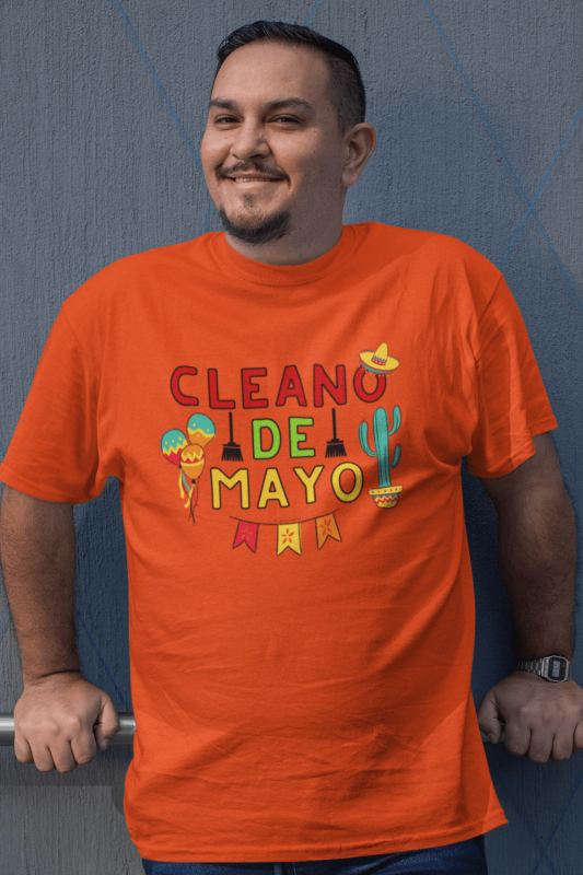 Cleano De Mayo Savvy Cleaner Funny Cleaning Shirts Men's Standard Tee