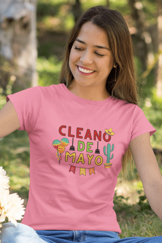 Cleano De Mayo Savvy Cleaner Funny Cleaning Shirts Women's Standard T-Shirt