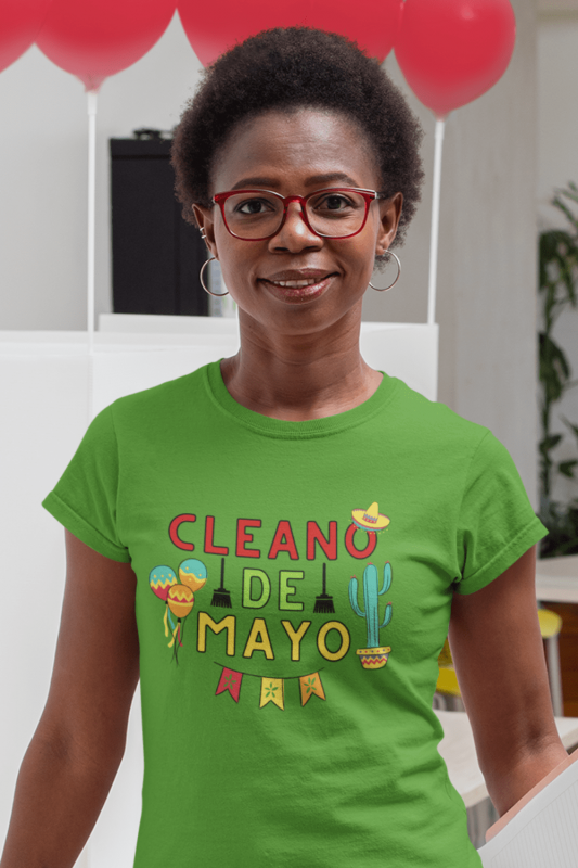 Cleano De Mayo Savvy Cleaner Funny Cleaning Shirts Women's Standard Tee
