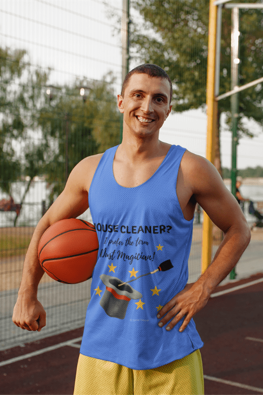 Dust Magician, Savvy Cleaner Funny Cleaning Shirts, Tank Top