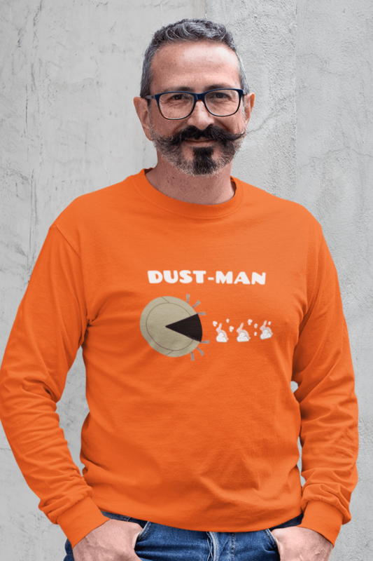 Dust Man Savvy Cleaner Funny Cleaning Shirts Classic Long Sleeve Tee