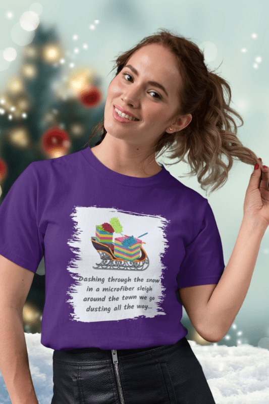Dusting All The Way Savvy Cleaner Funny Cleaning Shirts Comfort Tee