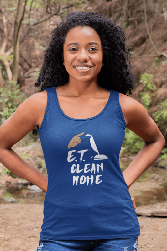 ET Clean Home Savvy Cleaner Funny Cleaning Shirts Premium Tank Top