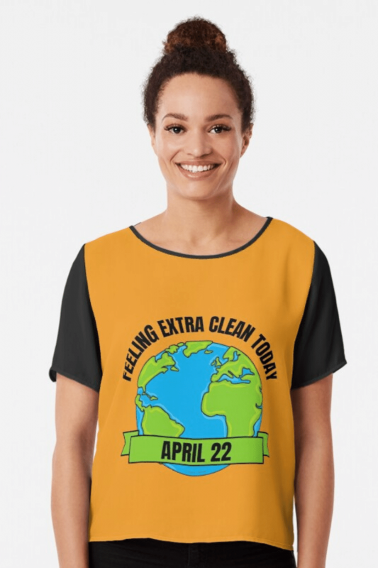 Earth Day Cleaning Savvy Cleaner Funny Cleaning Shirts Chiffon Top