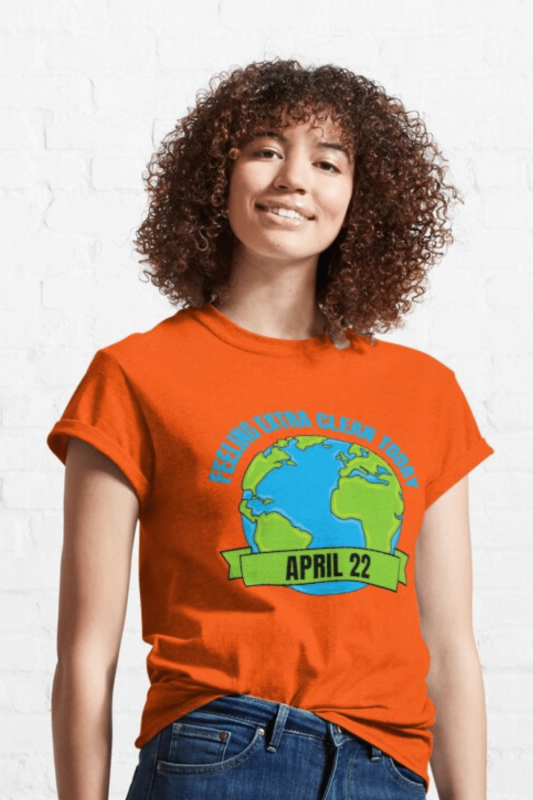 Earth Day Cleaning Savvy Cleaner Funny Cleaning Shirts Classic T-Shirt