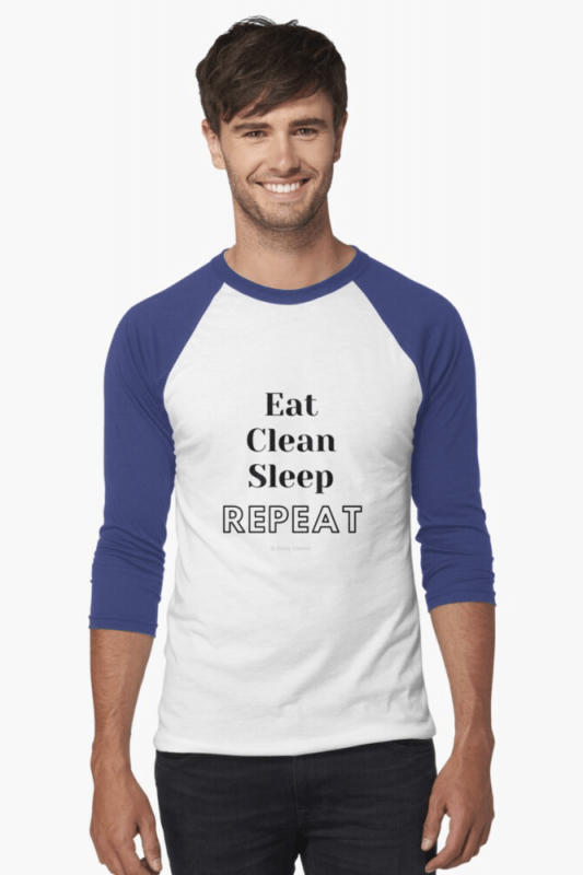 Eat Clean Sleep Repeat, Savvy Cleaner Funny Cleaning Shirt, Baseball Shirt