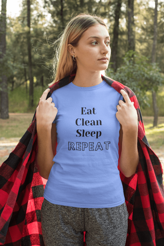 Eat Clean Sleep Repeat, Savvy Cleaner Funny Cleaning Shirts, Womans Classic T-Shirt