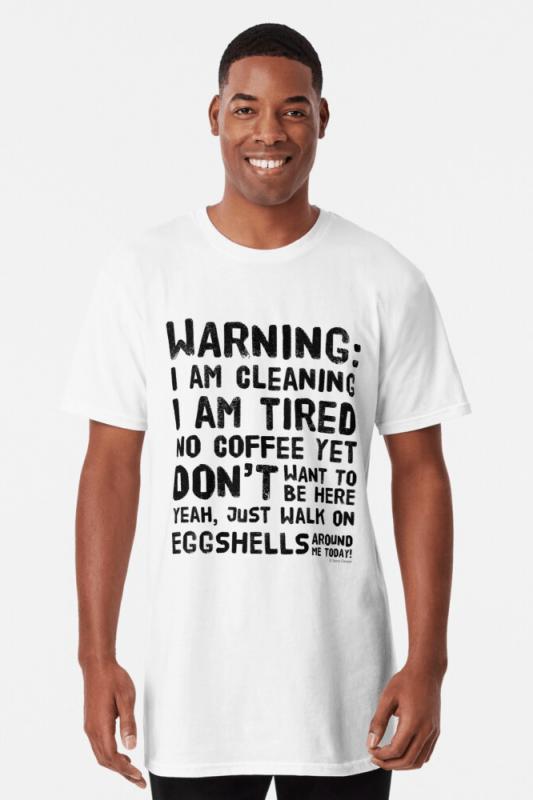 Eggshells, Savvy Cleaner Funny Cleaning Shirts, Long shirt