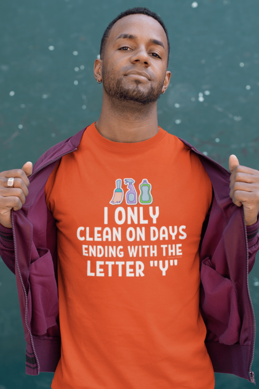 Ending With the Letter Y Savvy Cleaner Funny Cleaning Shirts Mens Standard Tee