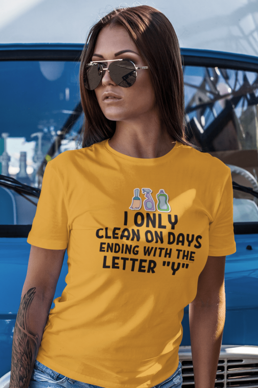 Ending With the Letter Y Savvy Cleaner Funny Cleaning Shirts Premium T-Shirt