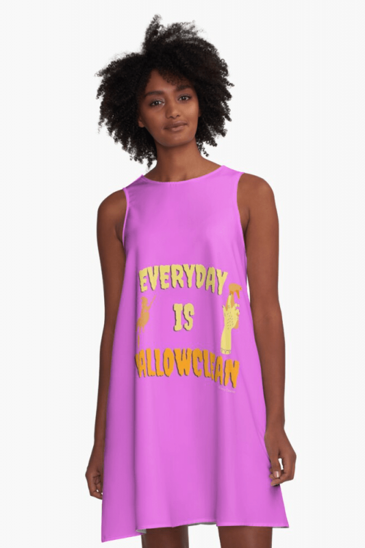Every Day is Hallowclean, Savvy Cleaner Funny Cleaning Shirts, A-line Dress