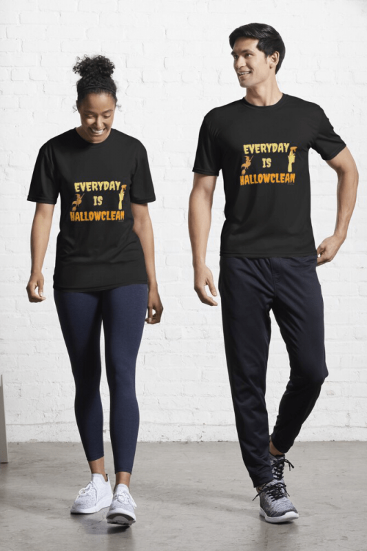 Every Day is Hallowclean, Savvy Cleaner Funny Cleaning Shirts, Active shirt