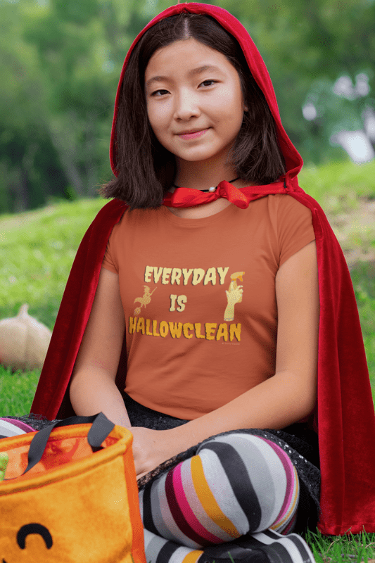 Every Day is Hallowclean, Savvy Cleaner Funny Cleaning Shirts, Kids Premium T-Shirt