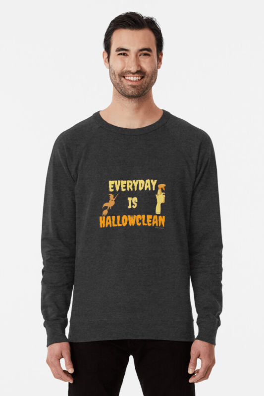 Every Day is Hallowclean, Savvy Cleaner Funny Cleaning Shirts, Lightweight Sweater
