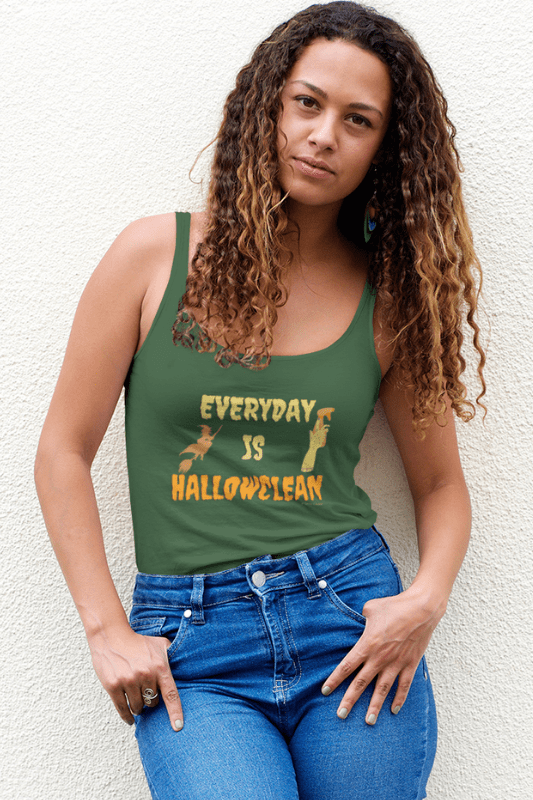 Every Day is Hallowclean, Savvy Cleaner Funny Cleaning Shirts, Premium Tank Top