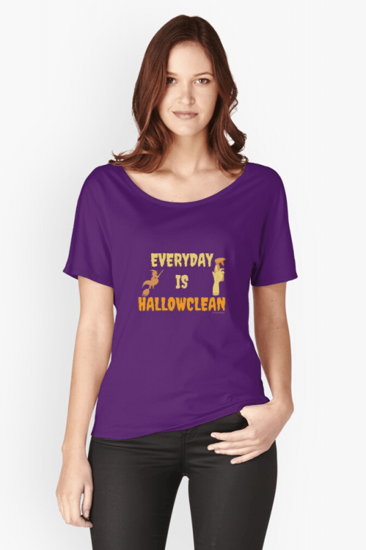Every Day is Hallowclean, Savvy Cleaner Funny Cleaning Shirts, Relaxed fit shirt