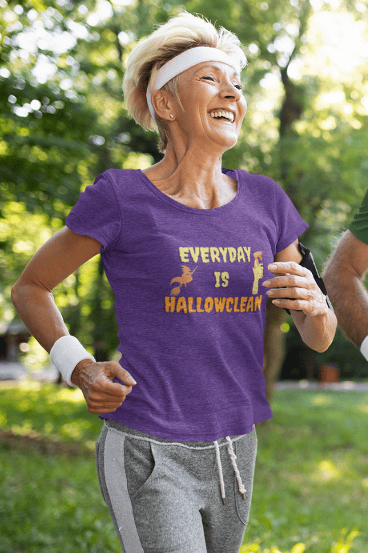 Every Day is Hallowclean, Savvy Cleaner Funny Cleaning Shirts, Women's Comfort T-Shirt