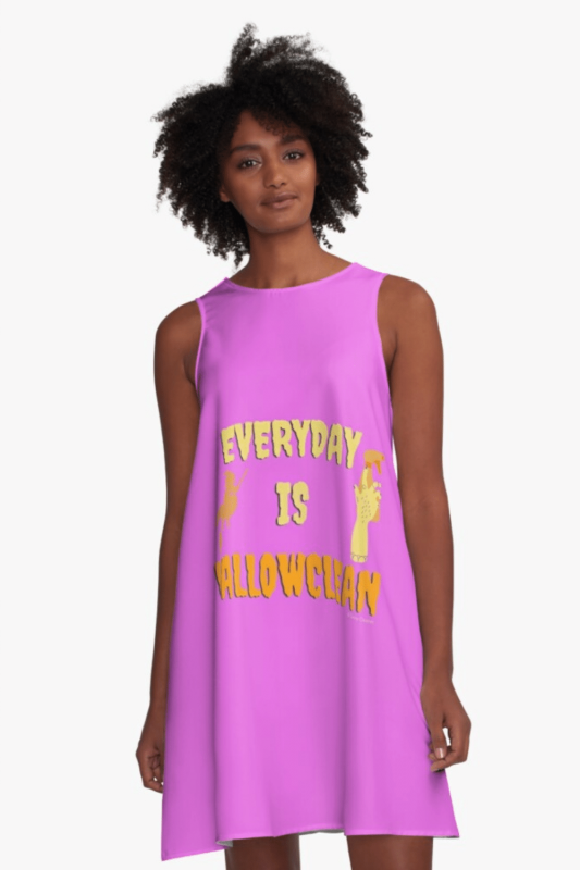 Everyday is Hallowclean Savvy Cleaner Funny Cleaning Shirts A-line Dress