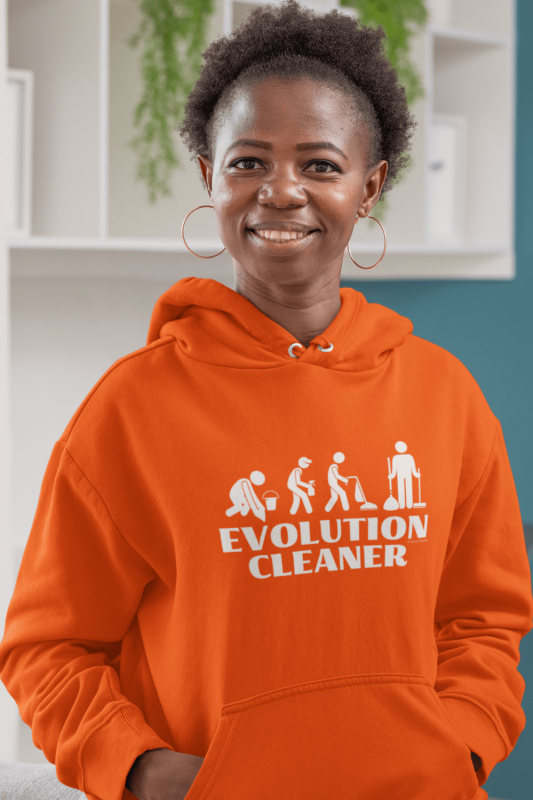 Evolution Cleaner Savvy Cleaner Funny Cleaning Classic Pullover Hoodie