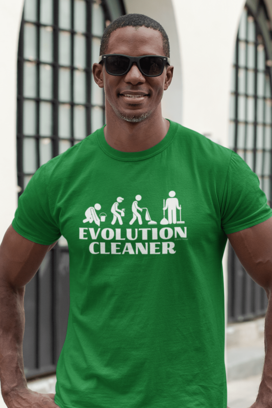 Evolution Cleaner Savvy Cleaner Funny Cleaning Men's Standard T-Shirt