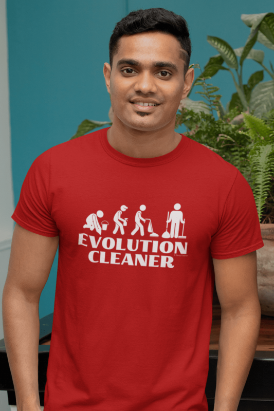 Evolution Cleaner Savvy Cleaner Funny Cleaning Men's Standard Tee