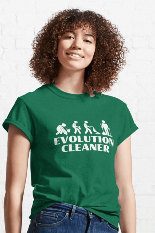 Evolution Cleaner Savvy Cleaner Funny Cleaning Shirts Classic Tee