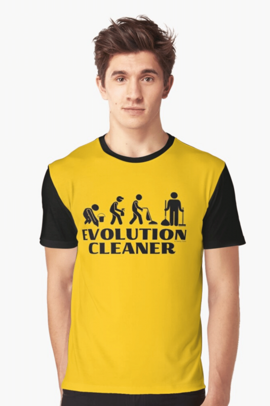 Evolution Cleaner Savvy Cleaner Funny Cleaning Shirts Graphic Tee