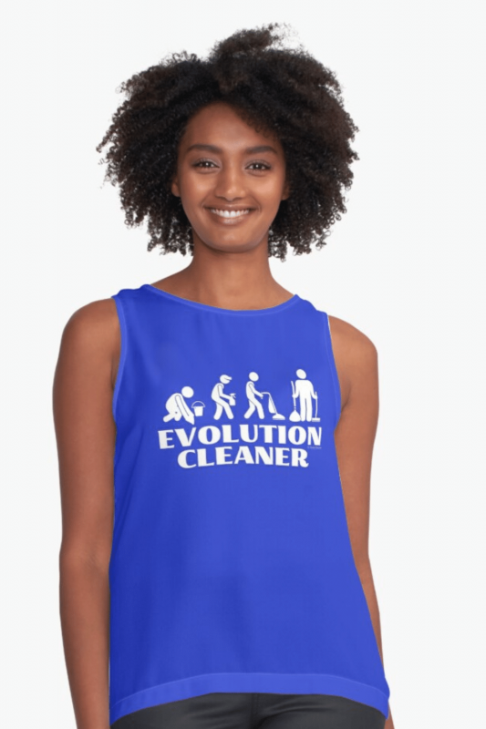 Evolution Cleaner Savvy Cleaner Funny Cleaning Shirts Sleeveless Top