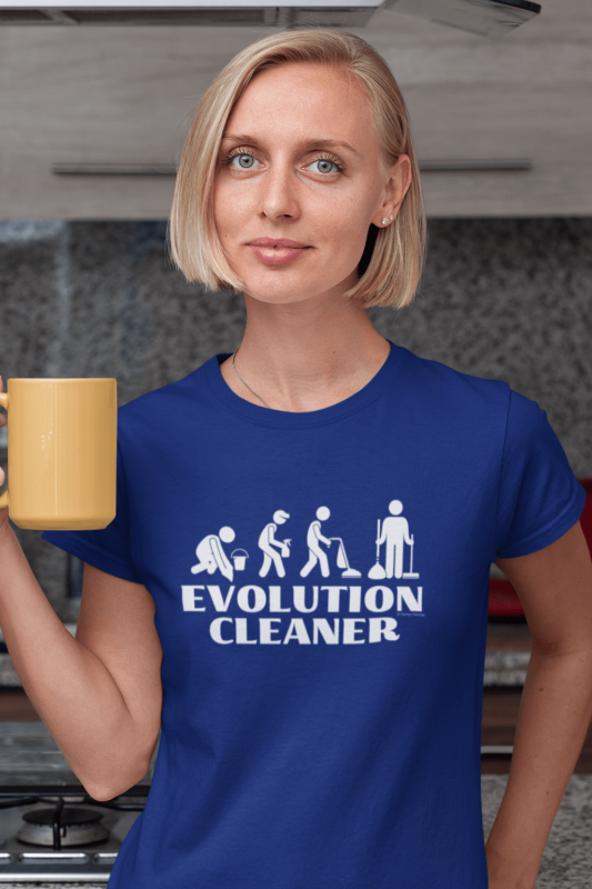 Evolution Cleaner Savvy Cleaner Funny Cleaning Women's Standard T-Shirt