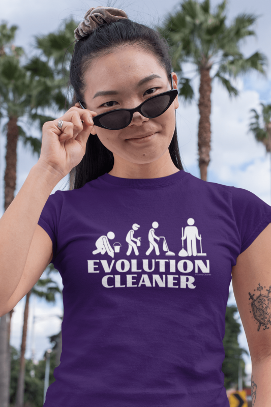 Evolution Cleaner Savvy Cleaner Funny Cleaning Women's Standard Tee
