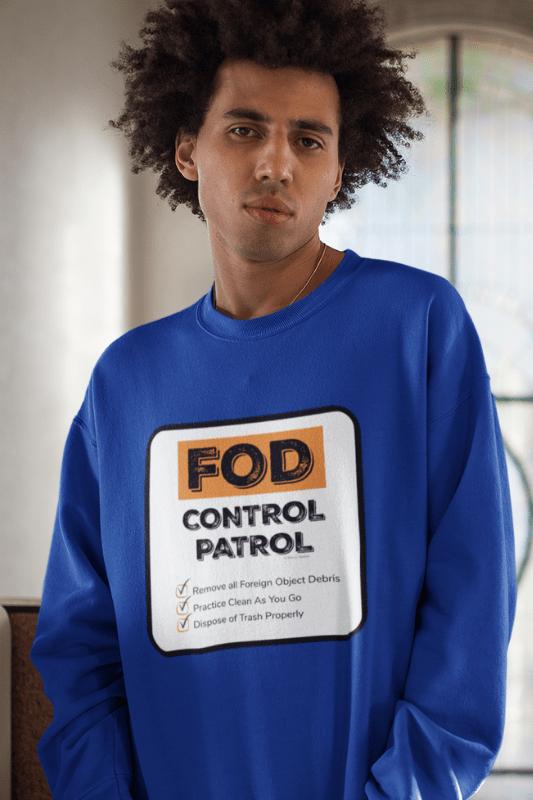 FOD Control Patrol, Savvy Cleaner Funny Cleaning Shirts, Classic Crewneck Sweatshirt