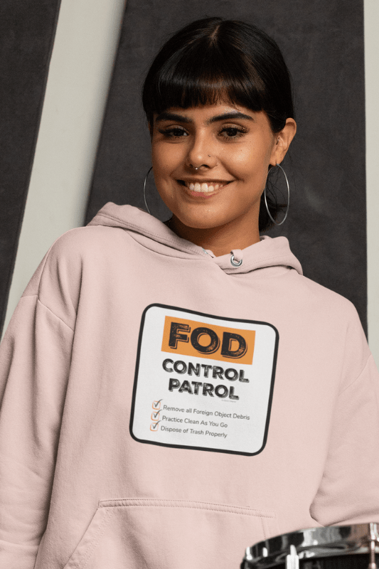 FOD Control Patrol, Savvy Cleaner Funny Cleaning Shirts, Classic Pullover Hoodie