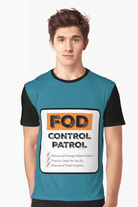 FOD Control Patrol, Savvy Cleaner Funny Cleaning Shirts, Graphic shirt