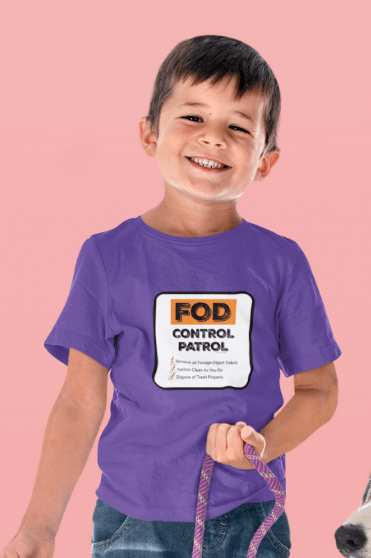 FOD Control Patrol, Savvy Cleaner Funny Cleaning Shirts, Kids Premium T-Shirt