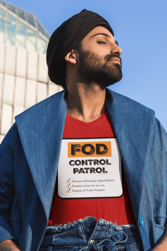 FOD Control Patrol, Savvy Cleaner Funny Cleaning Shirts, Premium V-Neck T-Shirt