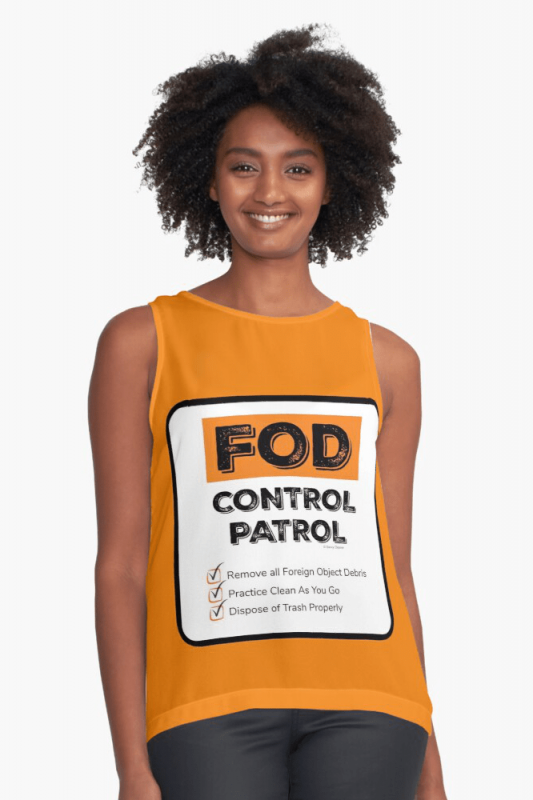 FOD Control Patrol, Savvy Cleaner Funny Cleaning Shirts, Sleeveless shirt