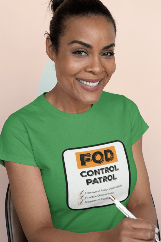 FOD Control Patrol, Savvy Cleaner Funny Cleaning Shirts, Women's Comfort T-Shirt