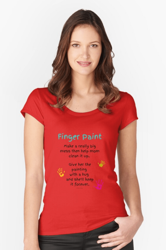 Finger Paint Savvy Cleaner Funny Cleaning Shirts Slouch Tee