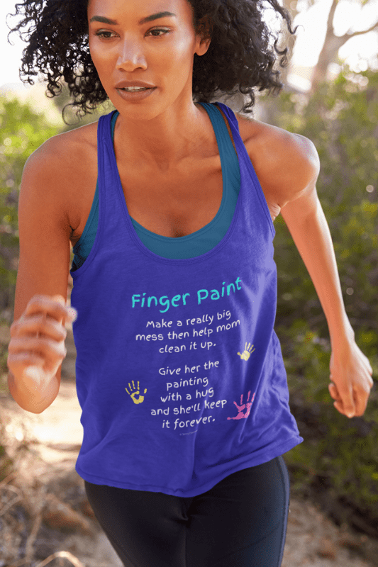 Finger Paint Savvy Cleaner Funny Cleaning Shirts Women's Flowy Tank Top